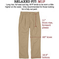 Original Twill Pant - Model M1P Relaxed Fit Forward Pleat in Cement by Bills Khakis