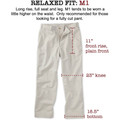 Original Twill Pant - Model M1 Relaxed Fit Plain Front in Cement by Bills Khakis