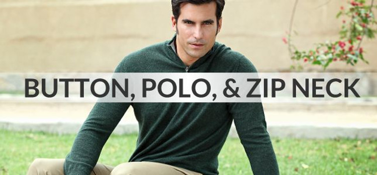 Button, Polo, and Zip Neck