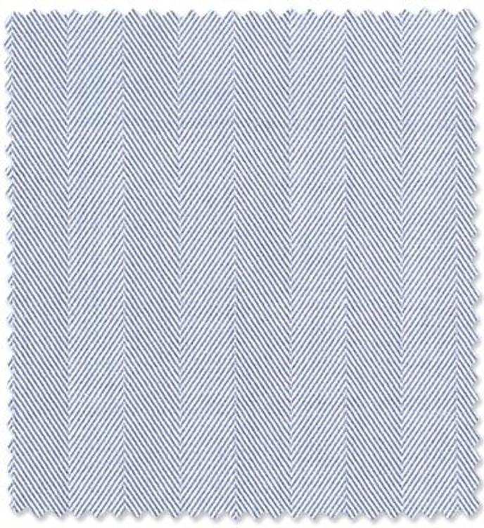 Sky Blue Herringbone Custom Dress Shirt by Robert Talbott