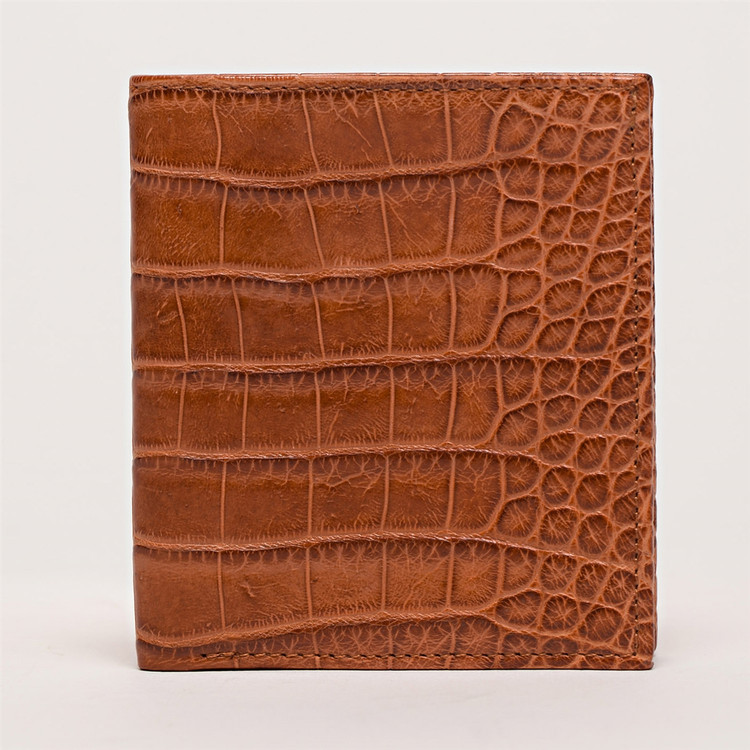 Compact Wallet in Tan Alligator by Moore & Giles