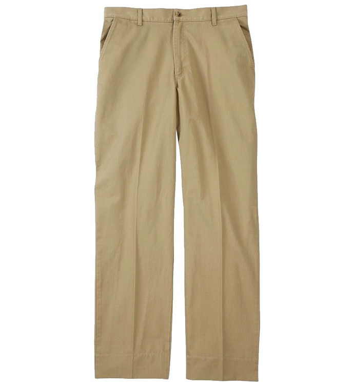 Weathered Canvas Plain Front Parker Pant in Khaki by Bills Khakis