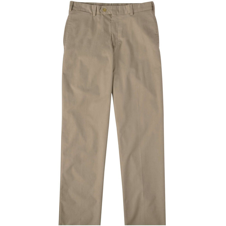 Travel Twill Pant - Model M2 Standard Fit Plain Front in Khaki by Bills Khakis