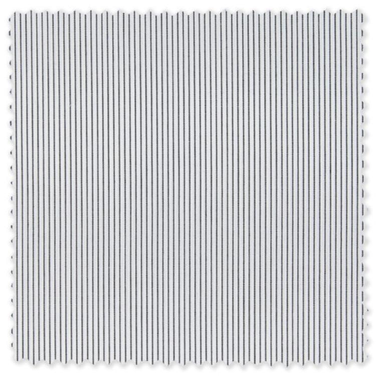 Black Pencil Stripe Custom Dress Shirt by Gitman Brothers