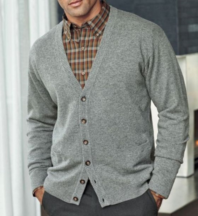 Lambswool Cardigan Sweater in Charcoal (Size Large) by Pendleton