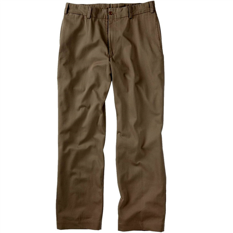Original Twill Pant - Model M1 Relaxed Fit Plain Front in Mushroom by Bills Khakis