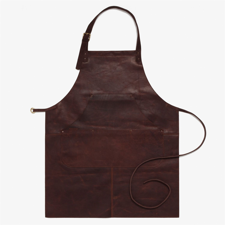Capps Leather Work Apron in Baldwin Oak by Moore & Giles