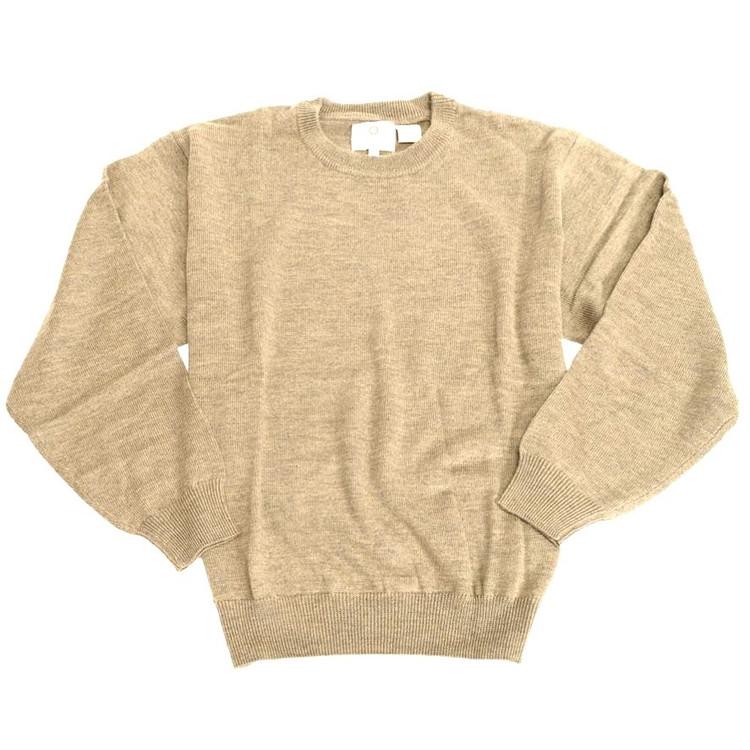 Merino Wool Crewneck Sweater in Caramel (Size XX-Large) by Viyella