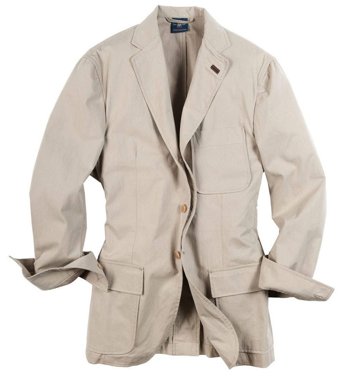 Savanna Cloth Washed Softcoat in Cement by Bills Khakis