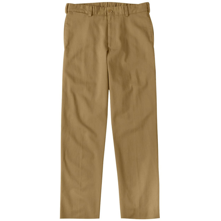 Original Twill Pant - Model M2 Standard Fit Plain Front in British Khaki by Bills Khakis