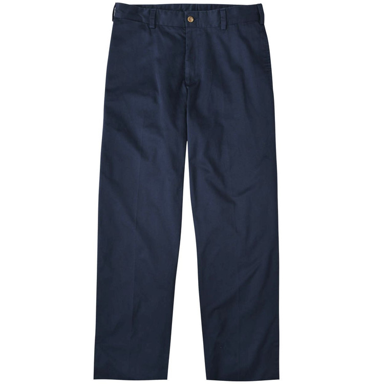 Chamois Cloth Pant - Model M2 Standard Fit Plain Front in Navy by Bills Khakis