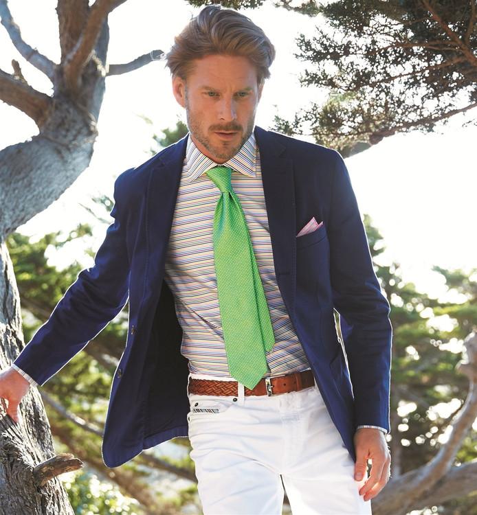 Best of Class Green Dot 'Spanish Bay' Woven Silk Tie by Robert Talbott