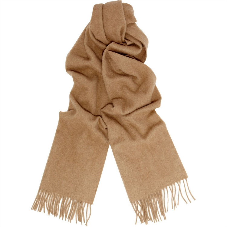 Pure Cashmere Woven Scarf in Camel by Alashan Cashmere