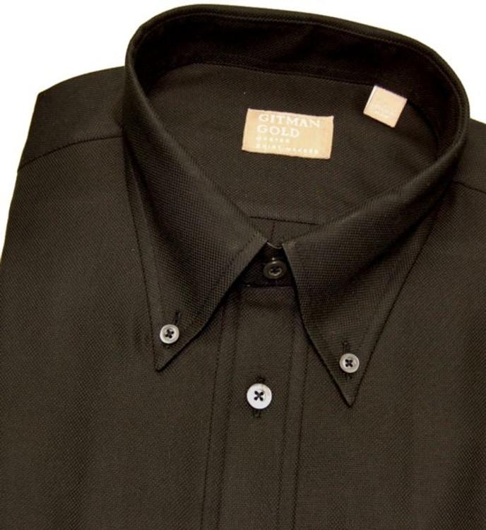 'Gitman Gold' Black Woven Sport Shirt (Size Medium) by Gitman Brothers