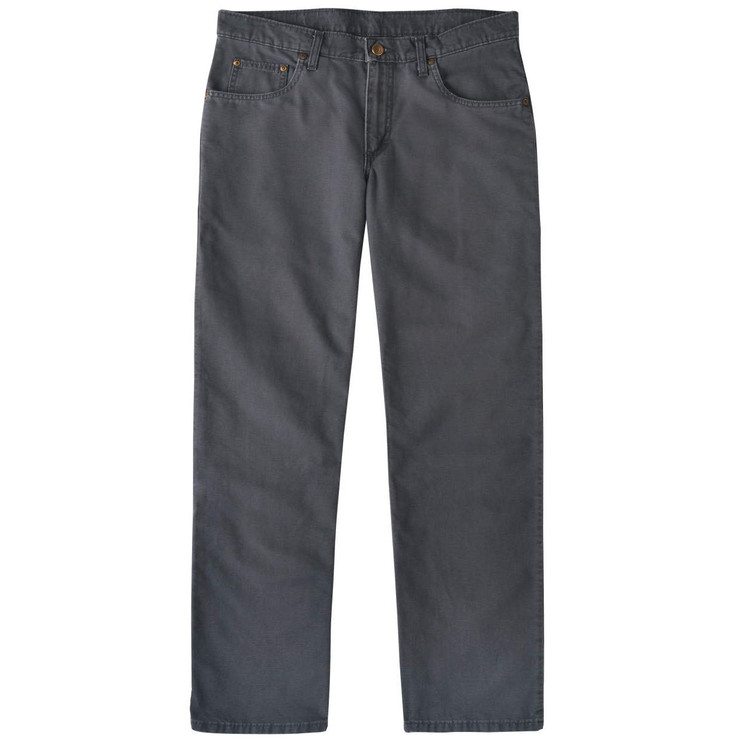 Weathered Canvas Five Pocket Model in Charcoal by Bills Khakis