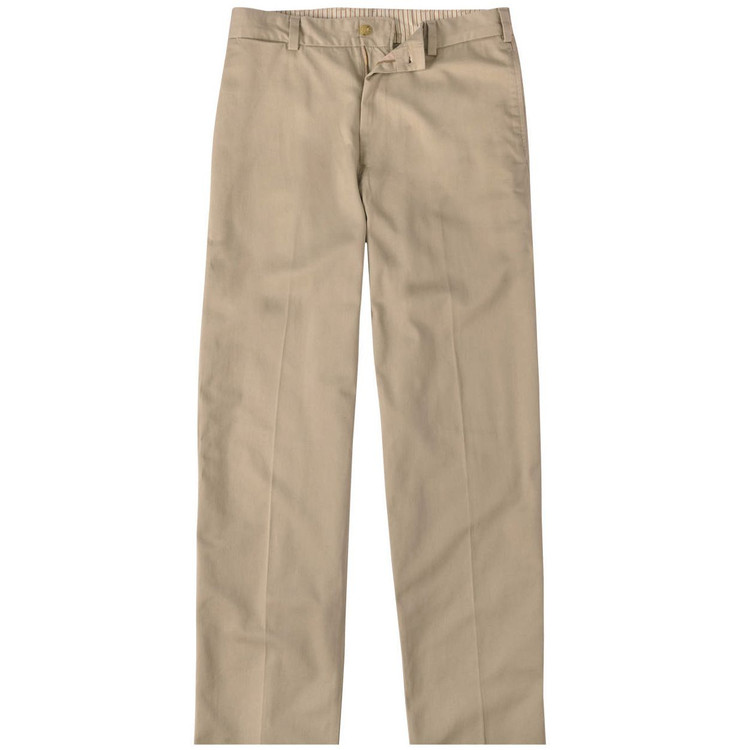 Vintage Twill Pant - Model M1 Relaxed Fit Plain Front in Khaki by Bills Khakis