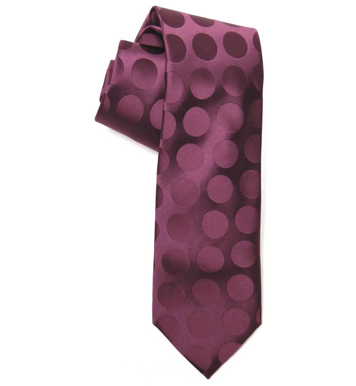Best of Class Beet Dot 'Times Square' Woven Silk Tie by Robert Talbott