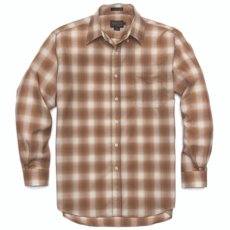 Bronze and Tan Ombre Sir Pendleton Wool Shirt by Pendleton