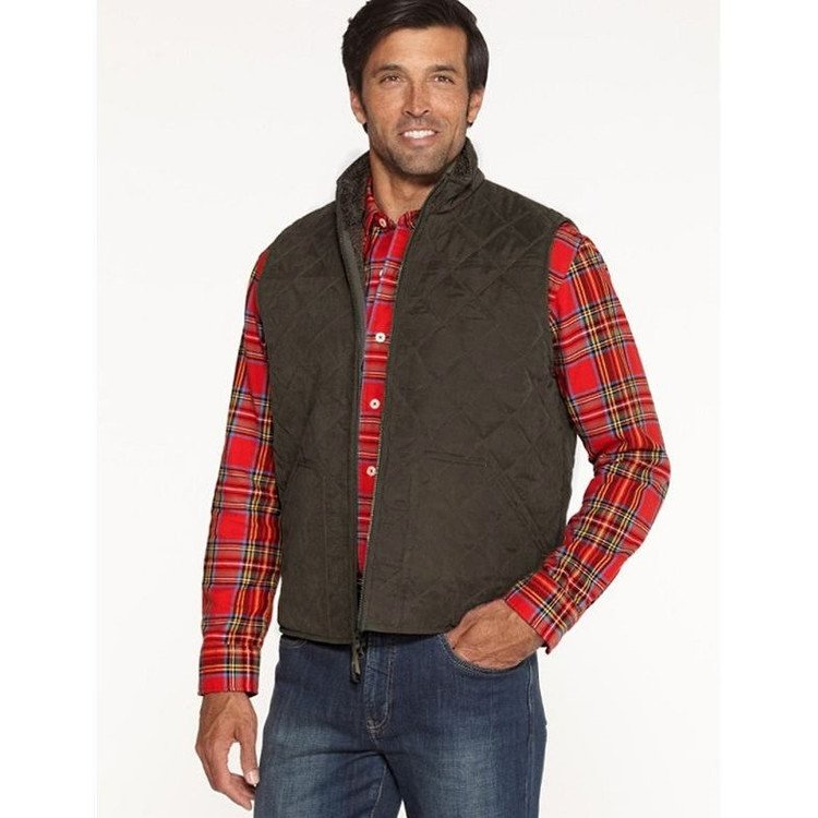 Creswell Fleece Vest in Brown by Pendleton