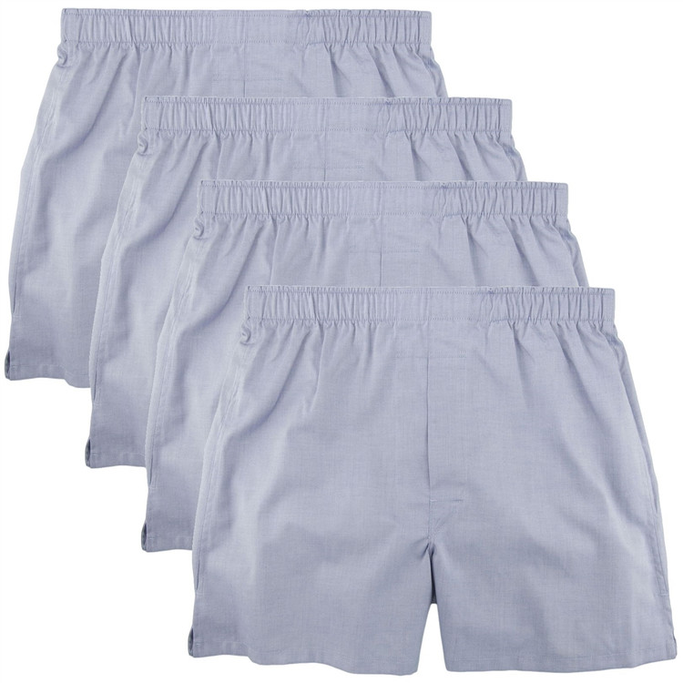 Cotton Boxer in Sky Blue (4 Pack) by Robert Talbott
