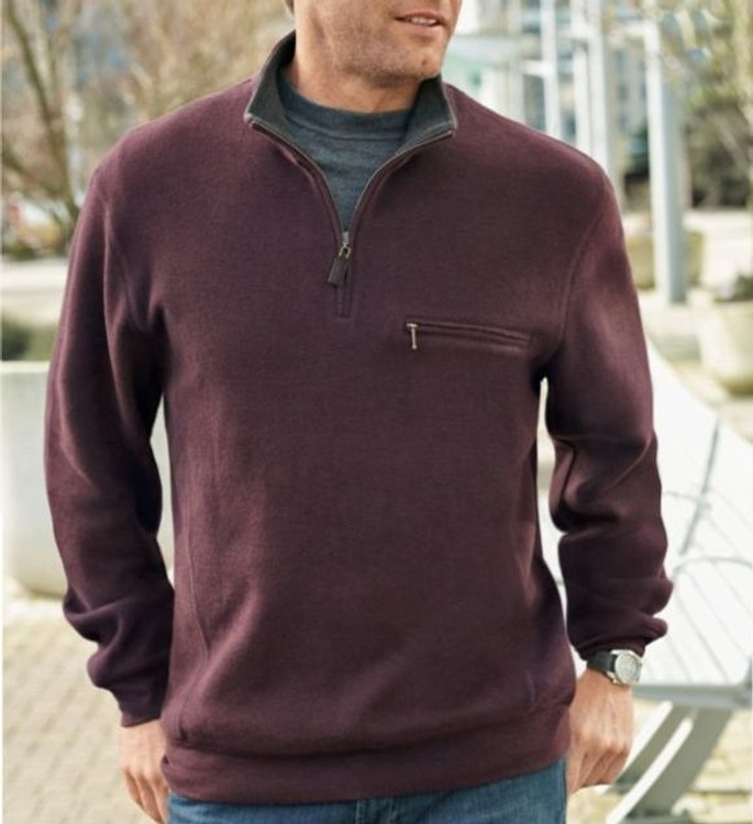Manzanita 1/4 Zip Pullover in Burgundy (Size Medium) by Pendleton