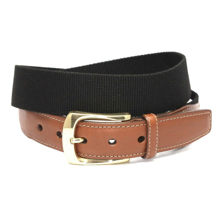 European Ribbed Surcingle Belt in Black by Torino Leather Co.
