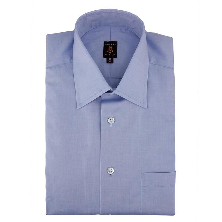 Blue Pinpoint 'Made in Monterey' Dress Shirt by Robert Talbott