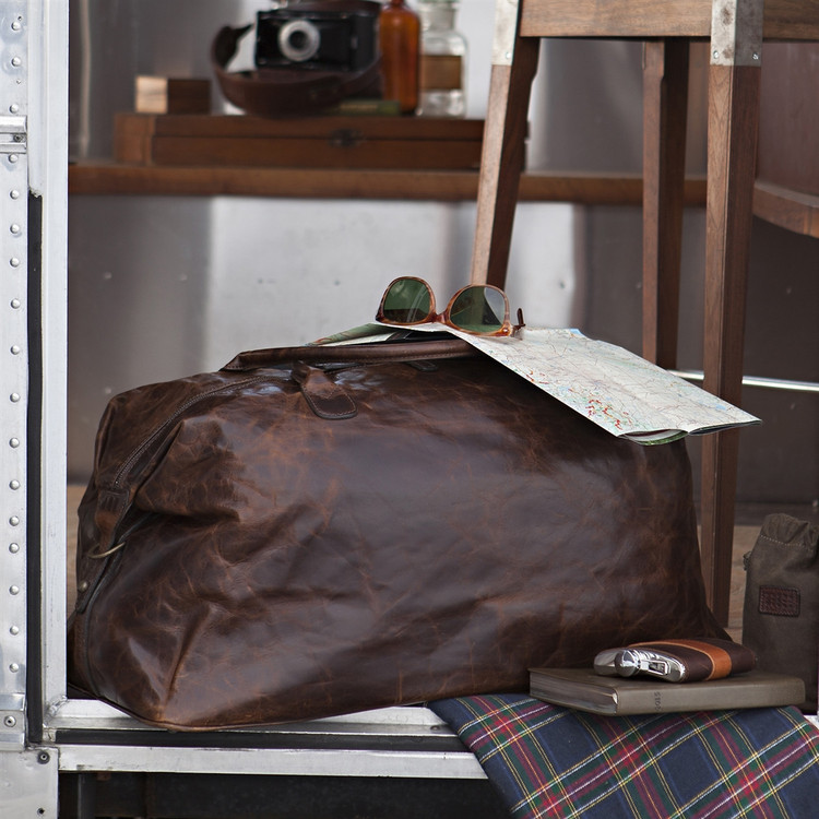 Benedict Weekend Bag in Brompton Brown by Moore & Giles