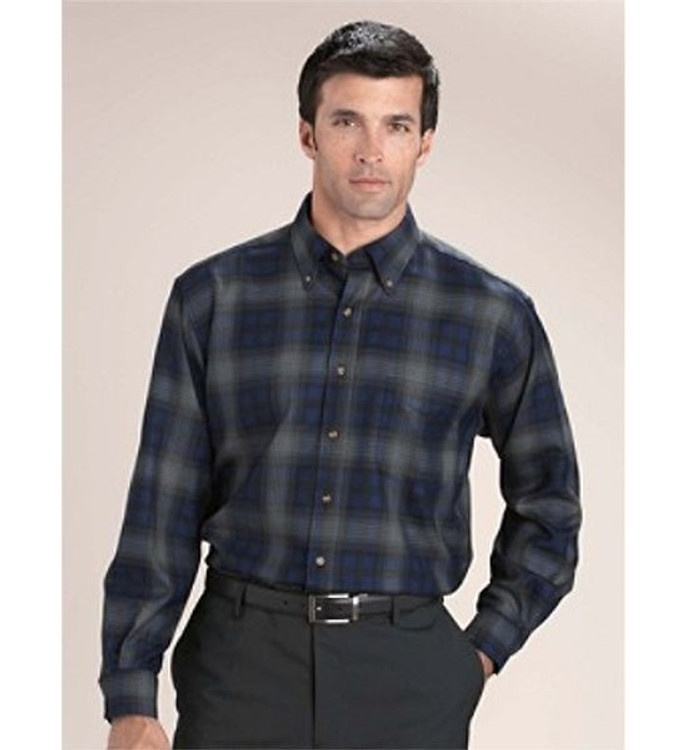 Blue and Grey Plaid Sir Pendleton Wool Shirt by Pendleton