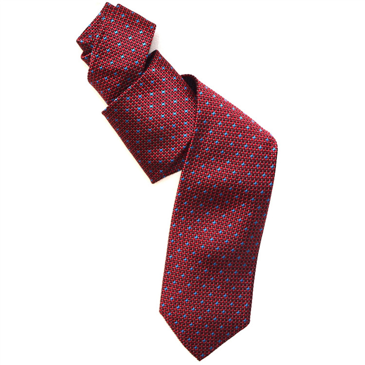 Best of Class Red and Blue 'Archive' Woven Silk Tie by Robert Talbott