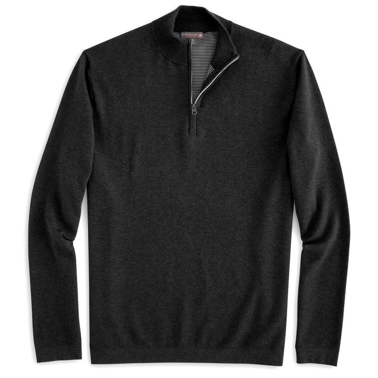 Salisbury Quarter-Zip 'Crown Sport' Performance Sweater in Black (Size Medium) by Peter Millar