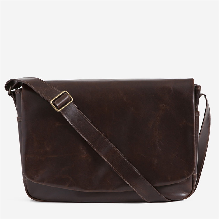 Sackett Messenger Bag in Brompton Brown by Moore & Giles