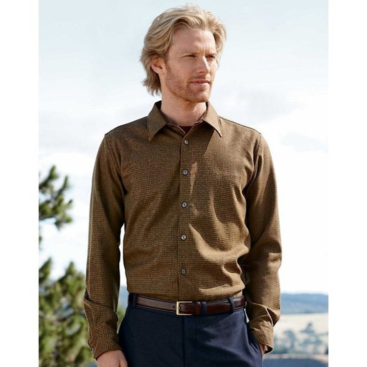 Grant Shirt in Peat Moss Mix Herringbone (Thomas Kay Collection) (Size XX-Large) by Pendleton