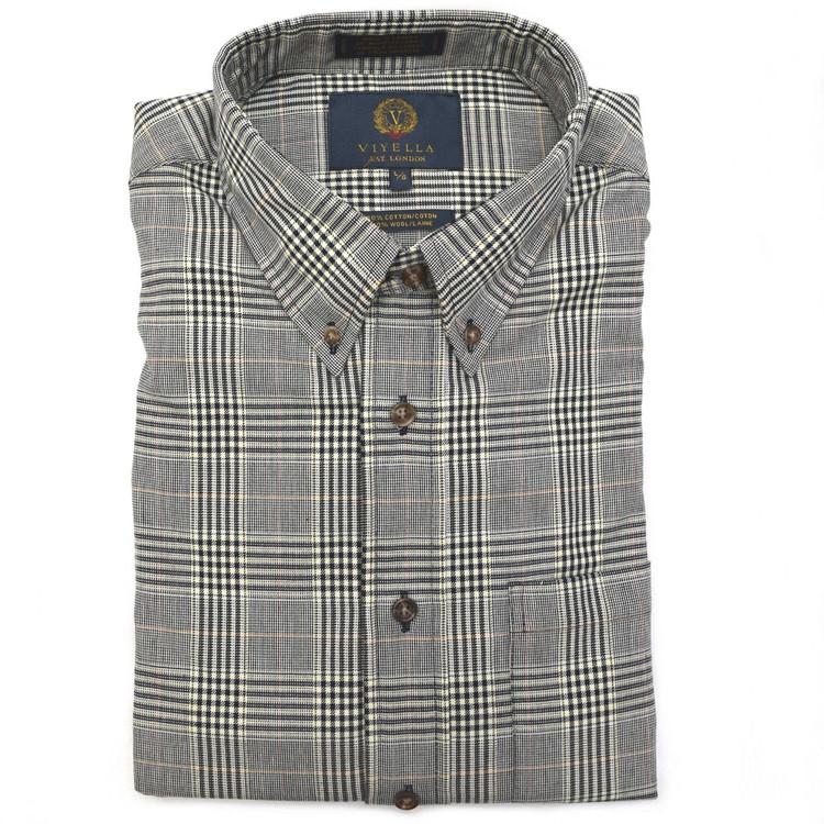 Navy Glen Plaid Button-Down Shirt by Viyella