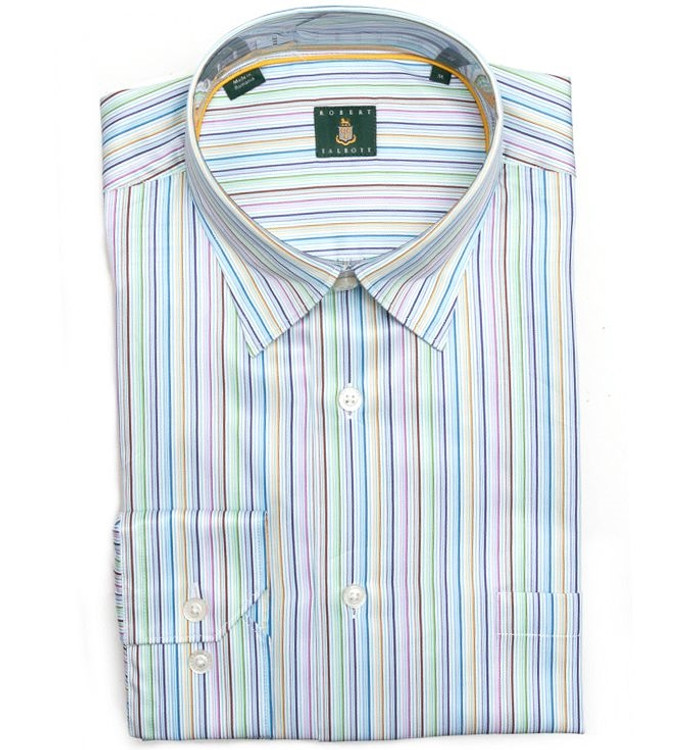 Multi Stripe 'Anderson' Sport Shirt by Robert Talbott