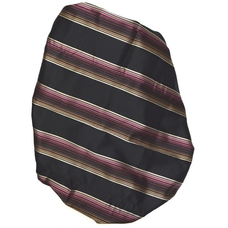 Custom Made Black, Brown, and Raspberry Stripe Seven Fold Tie by Robert Talbott