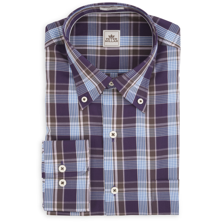 Autumn Plaid Sport Shirt in Snapdragon (Size Medium) by Peter Millar