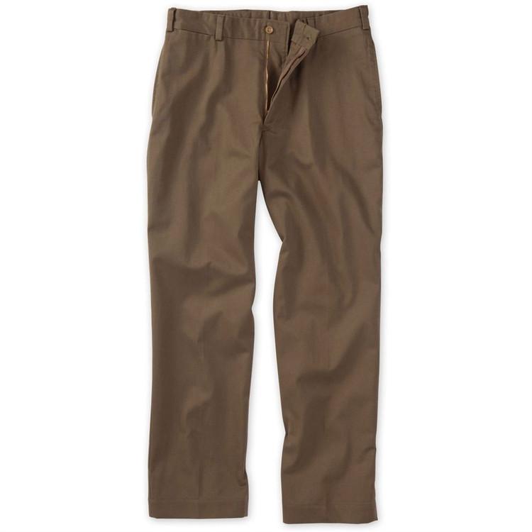 Original Twill Pant - Model M2 Standard Fit Plain Front in Mushroom by Bills Khakis