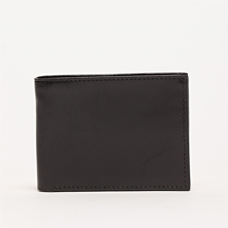 Bi-Fold Wallet in Brompton Black by Moore & Giles