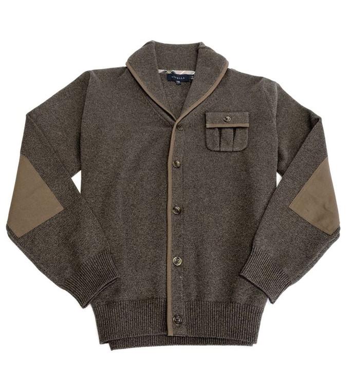 Shawl Collar Cardigan Sweater in Chestnut by Viyella