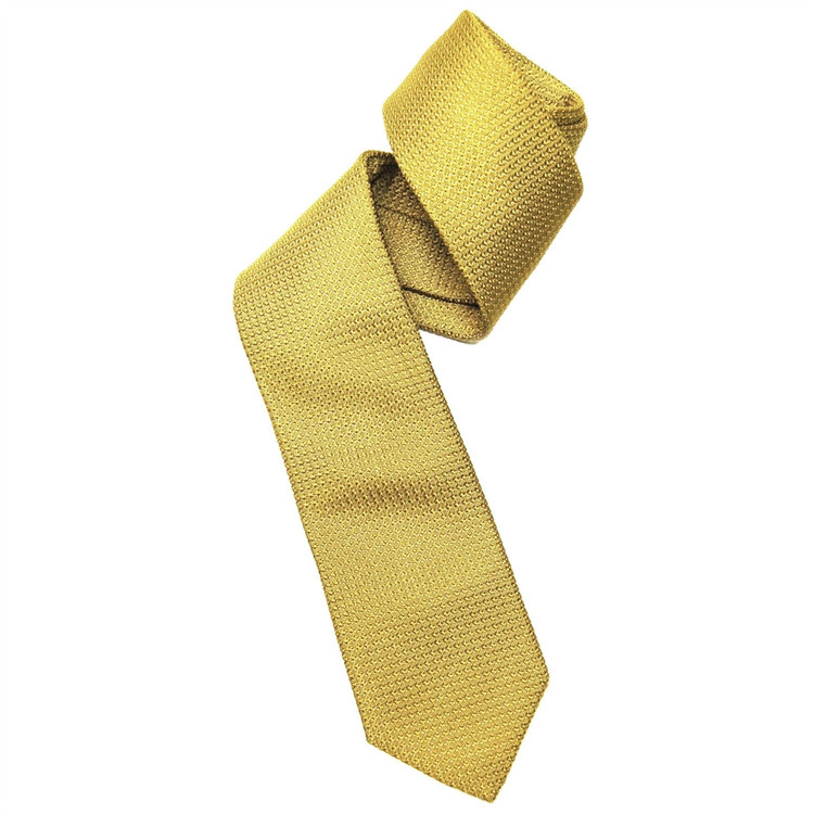 Gold Grenadine Woven Silk Tie by Robert Jensen