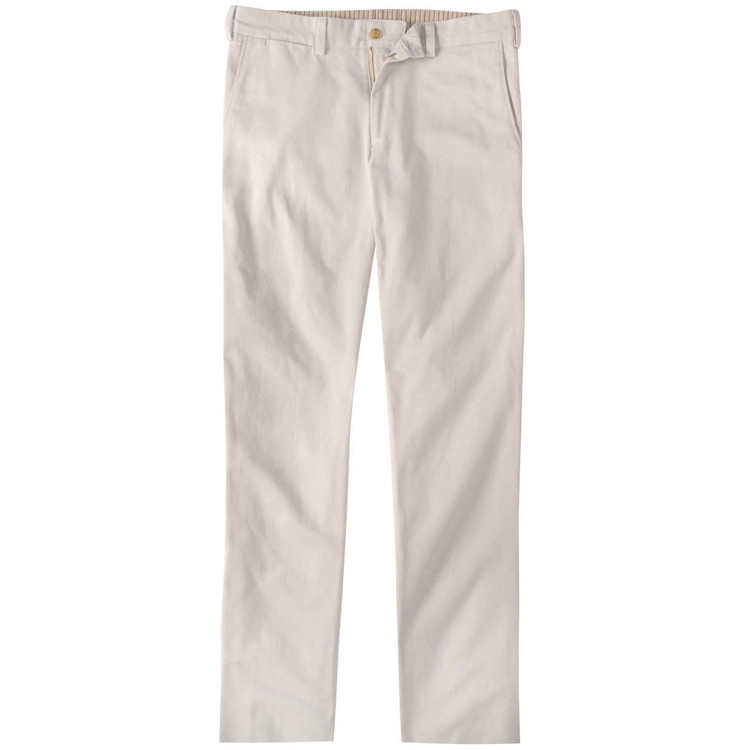 Vintage Twill Pant - Model M3 Trim Fit Plain Front in Stone by Bills Khakis
