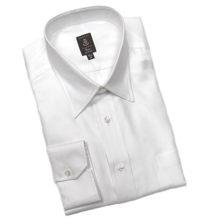 White Twill Estate Dress Shirt (Size 16 1/2 - 34) by Robert Talbott