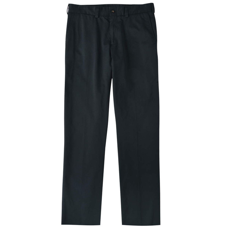 Chamois Cloth Pant - Model M3 Trim Fit Plain Front in Black by Bills Khakis