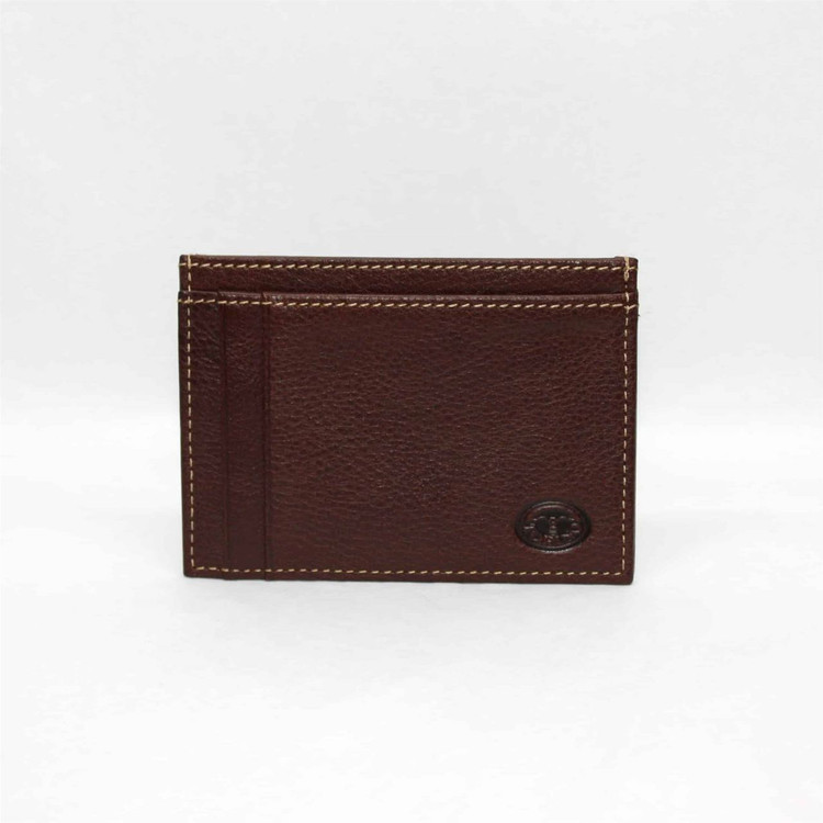 Tumbled Glove Leather ID/Card Case in Brown by Torino Leather Co.