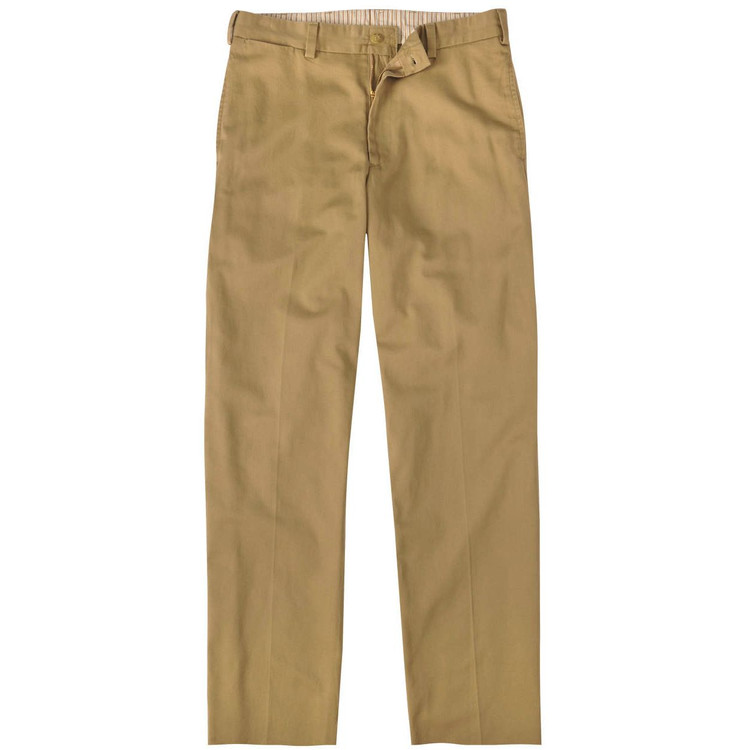 Vintage Twill Pant - Model M1 Relaxed Fit Plain Front in British Khaki by Bills Khakis