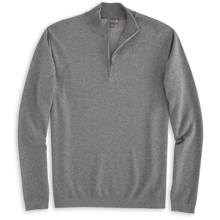 Salisbury Quarter-Zip 'Crown Sport' Performance Sweater in Smoke (Size X-Large)  by Peter Millar