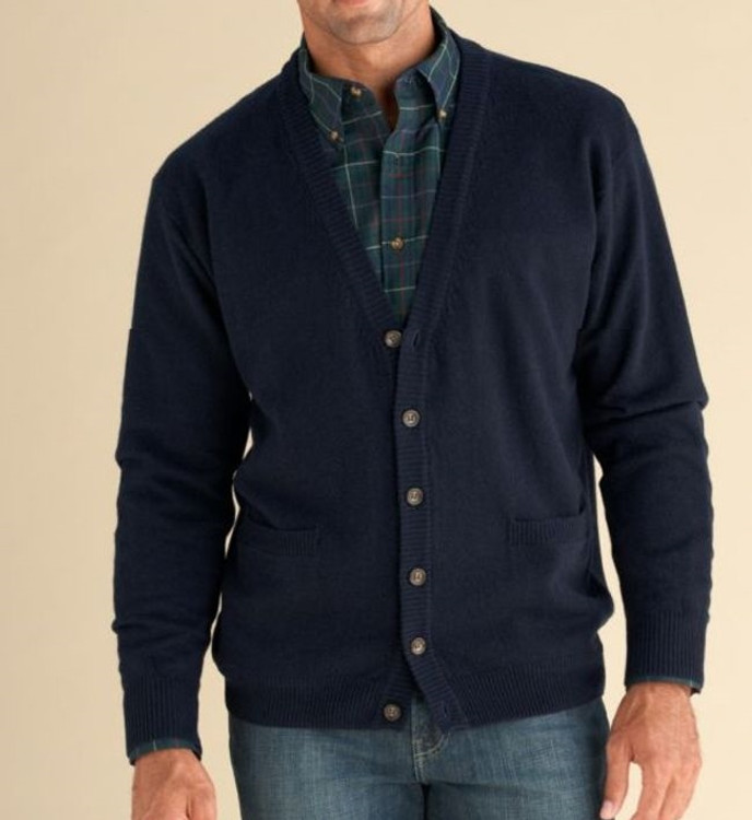 Lambswool Cardigan Sweater in Navy (Size Medium) by Pendleton