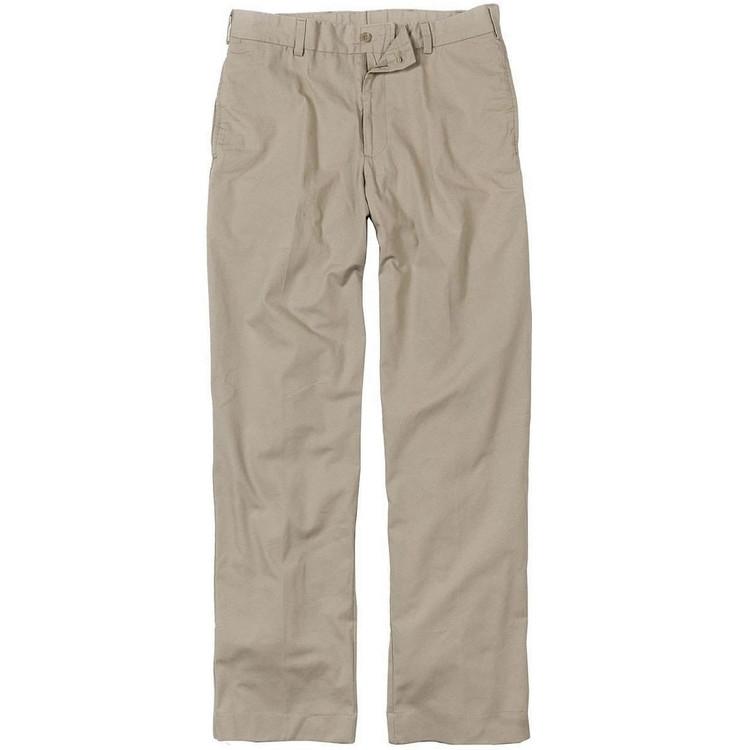 Lightweight Cotton Poplins - Model M2 Standard Fit Plain Front in Khaki by Bills Khakis