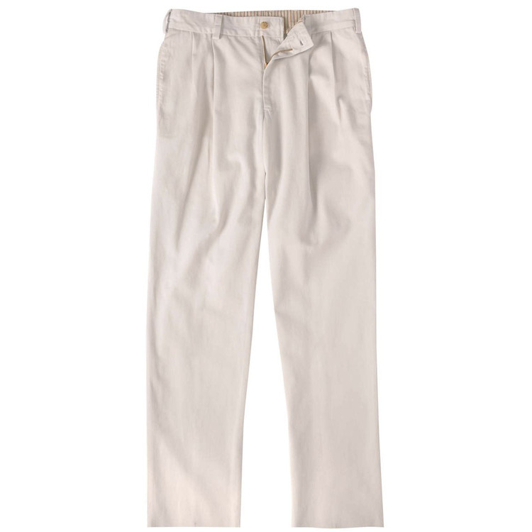 Vintage Twill Pant - Model M2P Standard Fit Reverse Pleat in Stone by Bills Khakis